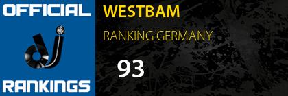 WESTBAM RANKING GERMANY