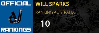 WILL SPARKS RANKING AUSTRALIA
