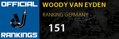 WOODY VAN EYDEN RANKING GERMANY