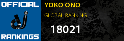 YOKO ONO GLOBAL RANKING
