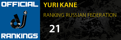 YURI KANE RANKING RUSSIAN FEDERATION