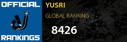 YUSRI GLOBAL RANKING