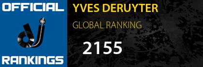 YVES DERUYTER GLOBAL RANKING