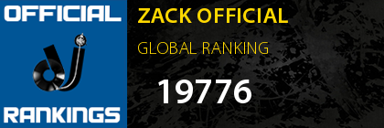 ZACK OFFICIAL GLOBAL RANKING