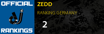 ZEDD RANKING GERMANY